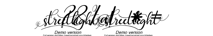 streetlightdemoversionitalic-sc Font OTHER CHARS