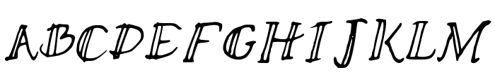 stripedsunshine Font UPPERCASE