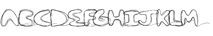 strungout Font UPPERCASE
