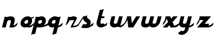 styroscript connected Font LOWERCASE