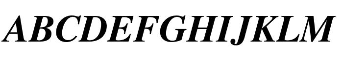 STIXGeneral-BoldItalic Font UPPERCASE
