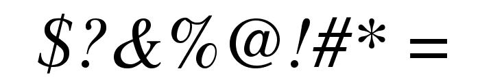 STIXGeneral-Italic Font OTHER CHARS