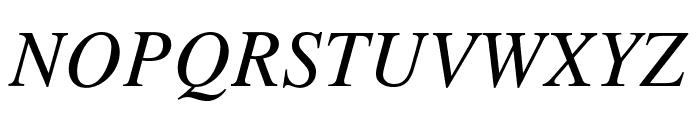 STIXGeneral-Italic Font UPPERCASE