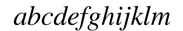 STIXGeneral-Italic Font LOWERCASE