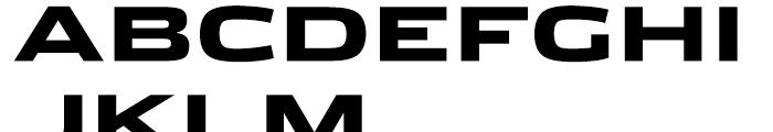 Stainless Extended Black Font UPPERCASE