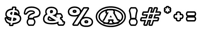 Stannard No 3 Regular Font OTHER CHARS