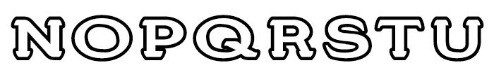 Stannard No 3 Regular Font UPPERCASE