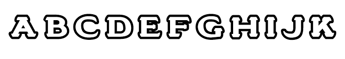 Stannard No 3 Regular Font LOWERCASE
