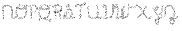 Star Cursive Shine Font UPPERCASE