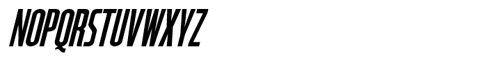 Starship Command Oblique Font UPPERCASE