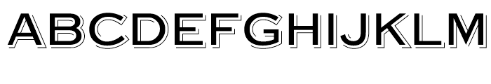 Steelplate Gothic Shaded Regular Font LOWERCASE