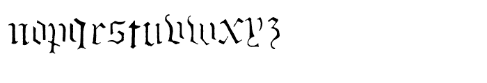Stenblak Regular Font LOWERCASE