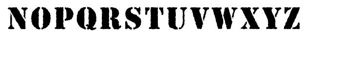 Stencil Antique Font UPPERCASE