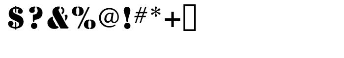 Stencil Regular Font OTHER CHARS