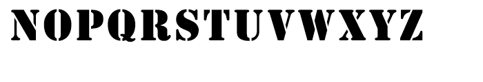 Stencil Regular Font UPPERCASE