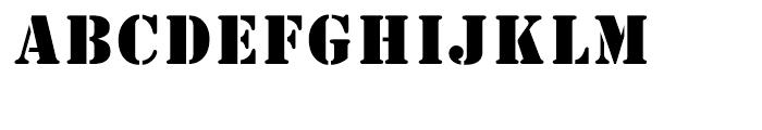 Stencil Regular Font LOWERCASE