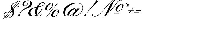 Sterling Script Regular Font OTHER CHARS