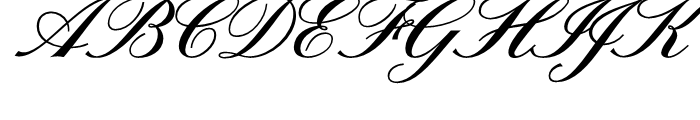 Sterling Script Regular Font UPPERCASE