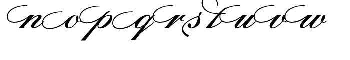 Sterling Script Regular Font LOWERCASE