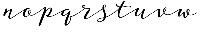 Storyteller Script Casual Font LOWERCASE