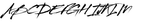 Streetbrush Regular Font UPPERCASE
