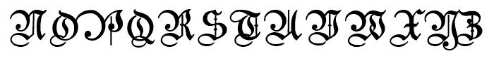 Students Alphabet Bold Font UPPERCASE