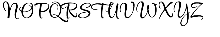 Style Script Regular Font UPPERCASE