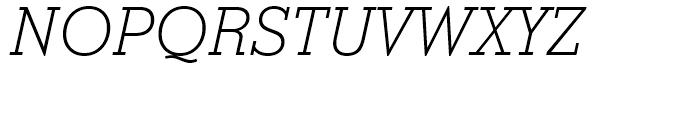 Stymie Light Italic Font UPPERCASE