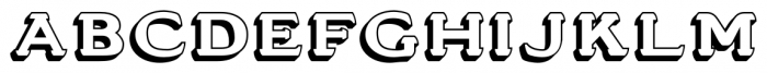 Stannard No1 Regular Font UPPERCASE