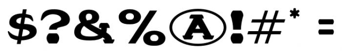 Stannard No4 Regular Font OTHER CHARS