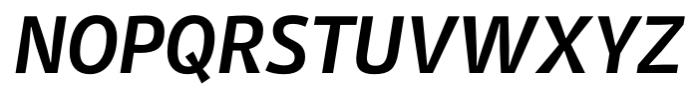 Stat Display Pro Bold Oblique Negative Font UPPERCASE