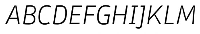 Stat Display Pro Light Oblique Negative Font UPPERCASE