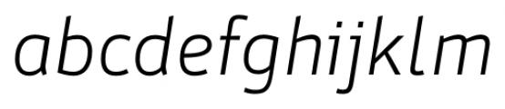 Stat Display Pro Light Oblique Negative Font LOWERCASE
