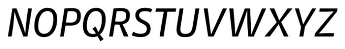 Stat Display Pro Medium Oblique Negative Font UPPERCASE