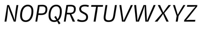 Stat Display Pro Regular Oblique Negative Font UPPERCASE