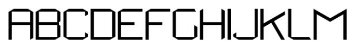 StealWerksClosed Fine Font UPPERCASE