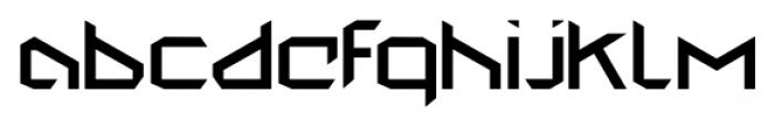 StealWerksClosed Regular Font LOWERCASE