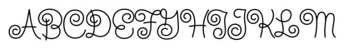 Steinweiss Script Medium Font UPPERCASE