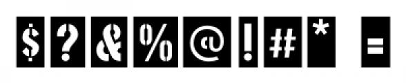Stenciling Cards JNL Regular Font OTHER CHARS