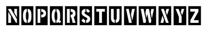 Stenciling Cards JNL Regular Font LOWERCASE