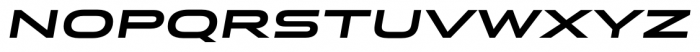 Stereo Gothic 750 Italic Font LOWERCASE