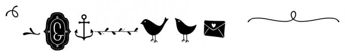 Storyteller Design Elements Regular Font OTHER CHARS