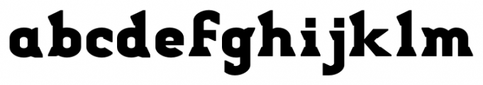 Stout Regular Font LOWERCASE