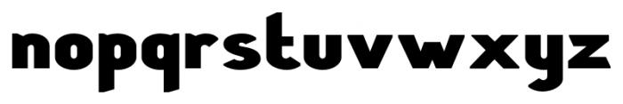 Stout Sans Bold Font LOWERCASE