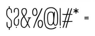 Strangelove NextSlab Narrow Bold Font OTHER CHARS