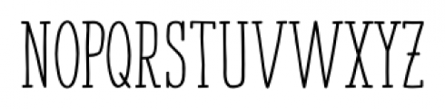 Strangelove NextSlab Narrow Bold Font UPPERCASE