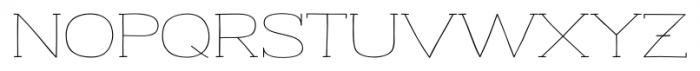 Strangelove NextSlab Wide Font UPPERCASE