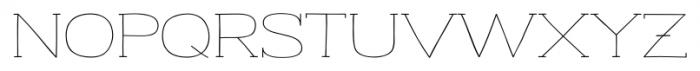 Strangelove NextSlab Wide Font LOWERCASE