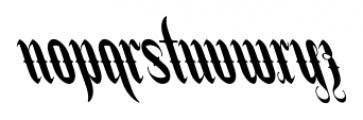 Stridere Black Font LOWERCASE