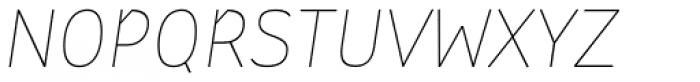 St Transmission 200 Thin Italic Font UPPERCASE